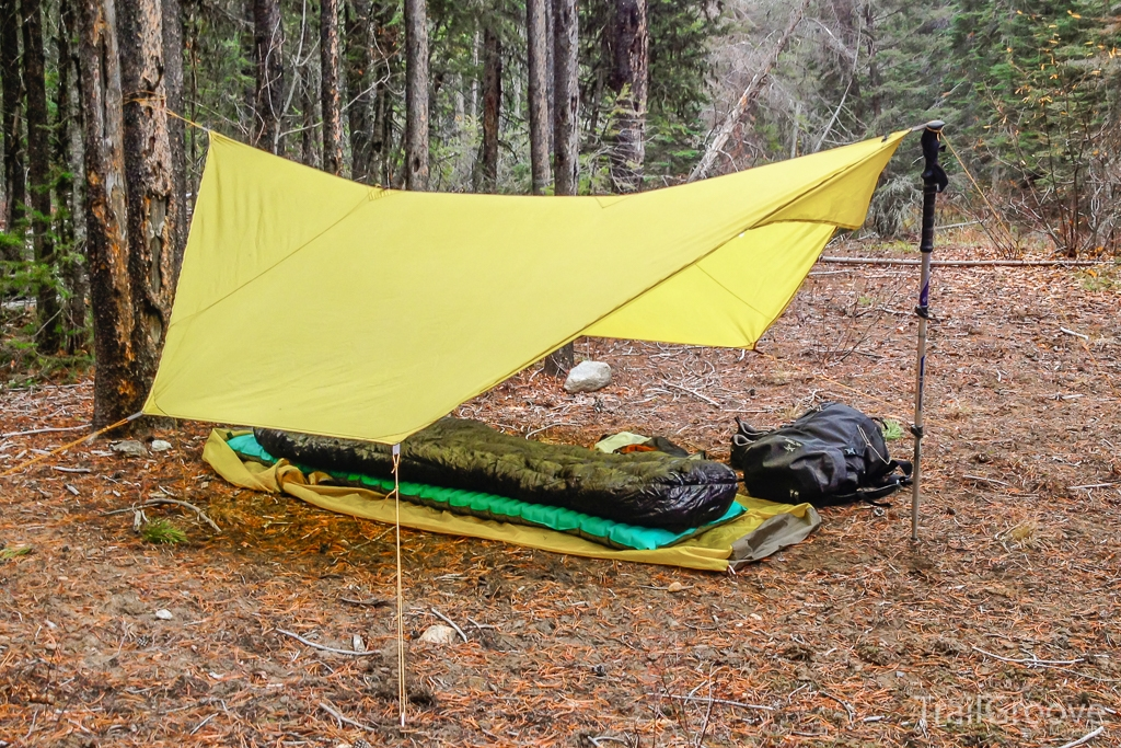 Review - Marmot Plasma 30 Backpacking Under Tarp.JPG