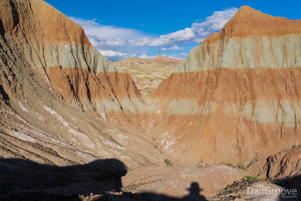 Hiking Among the Numerous Colored and Banded Buttes