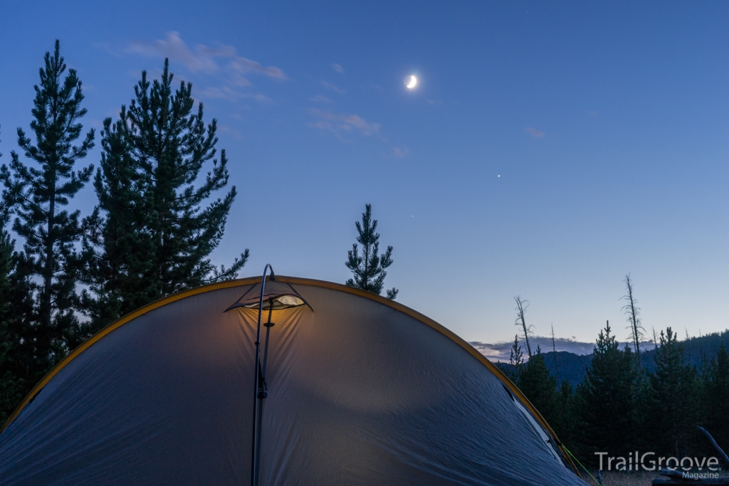 Bridger Wilderness Sunset and Moonrise