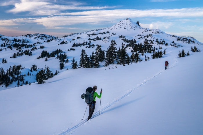 Backpacking and Skiing Around Crater Lake