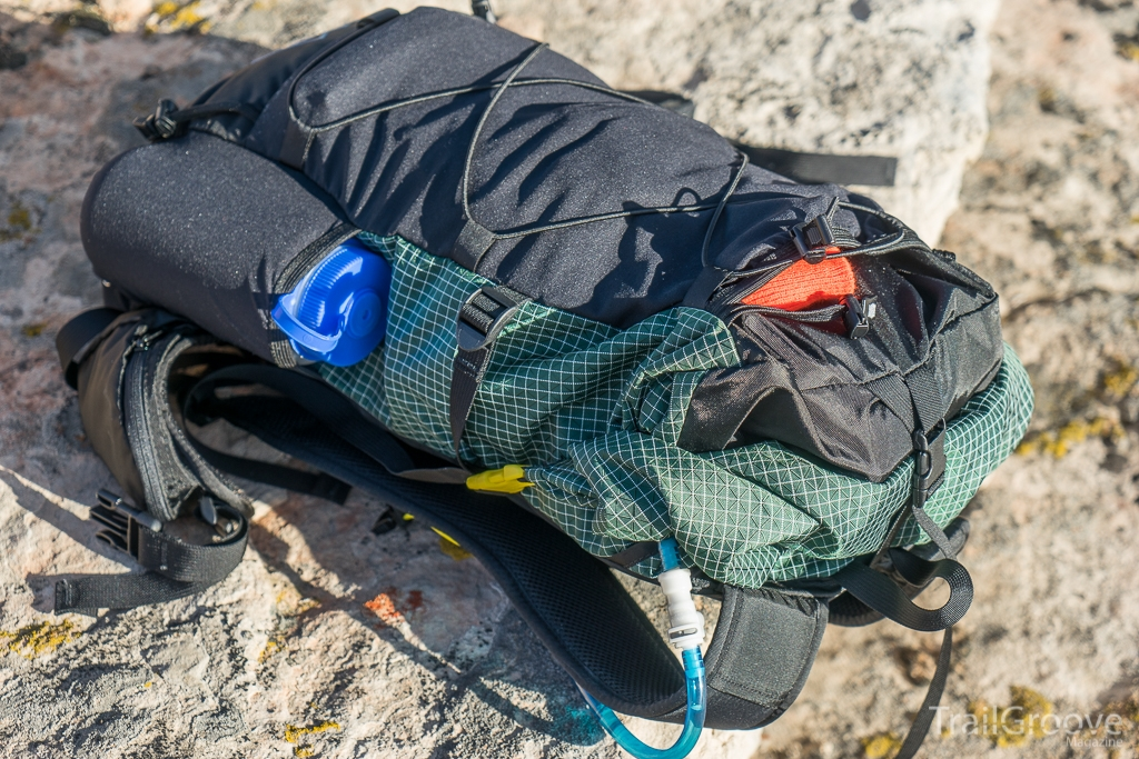 ULA Photon Backpacking Showing Mesh Center and Side Pockets