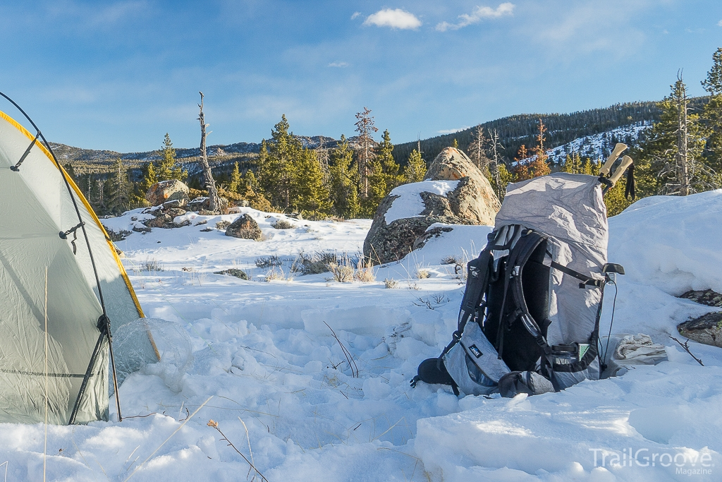 ZPacks Multipack and ULA Equipment Circuit in Winter Camp