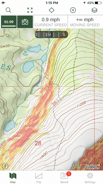 Gaia GPS USGS Topo with Slope and Shaded Relieve Layers.JPG
