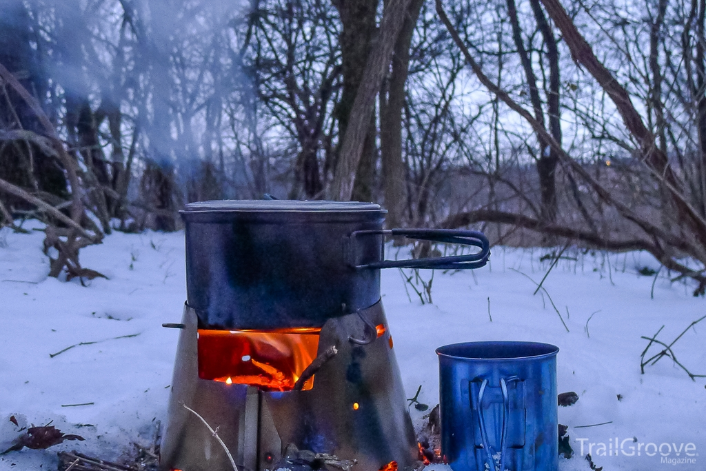Wood Burning Stove for Backpacking - Trail Designs Caldera Ti-Tri