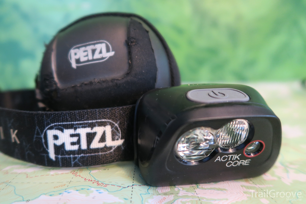 The Actik Core Rechargeable Headlamp from Petzl