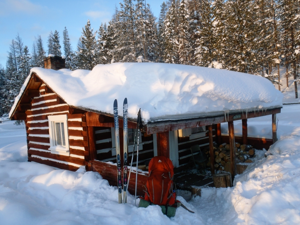 Skiing to Hogan Cabin - Beaverhead-Deerlodge National Forest