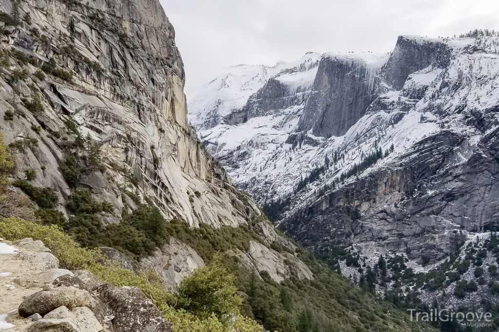 Hiking Through a Yosemite Canyon in Winter