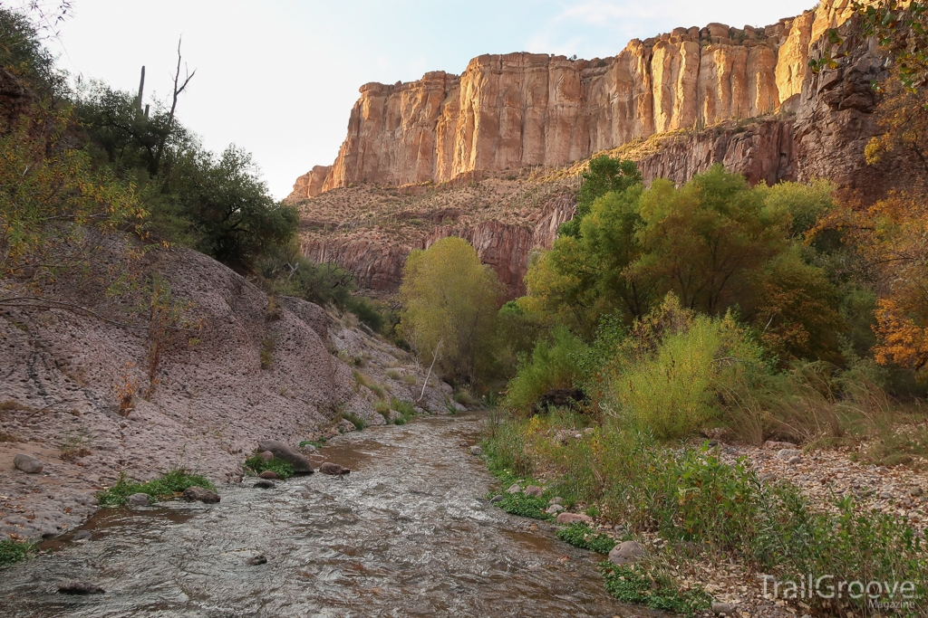 Creek and Canyon Walls - Aravaipa Backpacking Trip