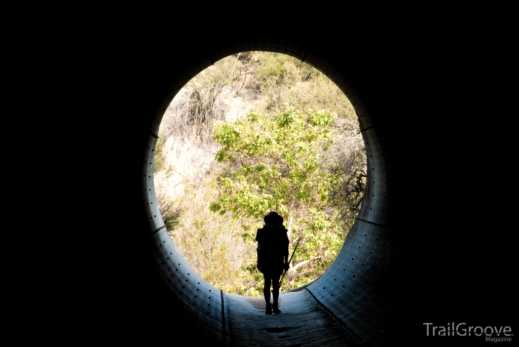 Hiking Through a Tunnel on the PCT